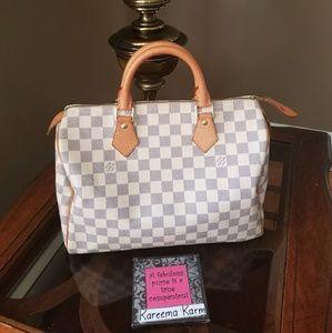 Louis Vuitton Bags - Authentic Louis Vuitton Speedy 30 Azur